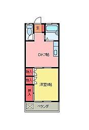 北坂戸ハイツ[2階]の間取り
