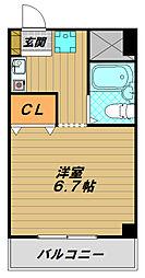 メゾンド神戸[3階]の間取り