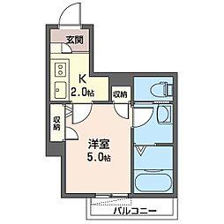 ベル・グランツ金沢八景 A 1階1Kの間取り