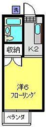 神奈川県横浜市磯子区坂下町の賃貸アパートの間取り