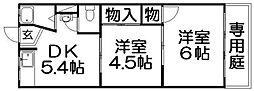 第二田村マンション[1階]の間取り