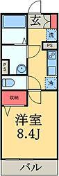 JR総武線 千葉駅 徒歩19分の賃貸マンション 3階1Kの間取り