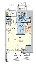 JR山手線 五反田駅 徒歩7分の賃貸マンション 2階1Kの間取り