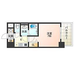 阪神なんば線 九条駅 徒歩9分の賃貸マンション 14階1Kの間取り