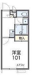 西武新宿線 南大塚駅 徒歩25分の賃貸アパート 2階1Kの間取り