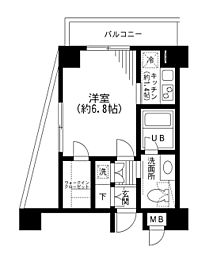 KDXレジデンス日本橋箱崎[2階]の間取り