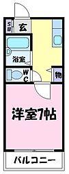 サンロワール北野田[2階]の間取り