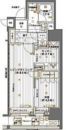 JR山手線 神田駅 徒歩4分の賃貸マンション 8階1LDKの間取り