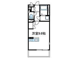 小田急小田原線 座間駅 バス7分 栗原交番前下車 徒歩10分の賃貸アパート 1階1Kの間取り