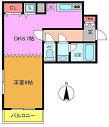 千葉県船橋市東町の賃貸マンションの間取り