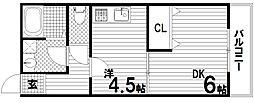 メゾンプラージュ苅藻[1階]の間取り