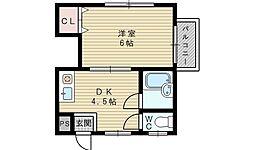 メイト淡路[2階]の間取り
