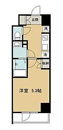 グラード久米川 9階1Kの間取り