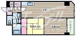 おおきに大阪天満サニーアパートメント 3階2LDKの間取り