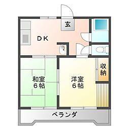 クレセントSAKURAI A[1階]の間取り