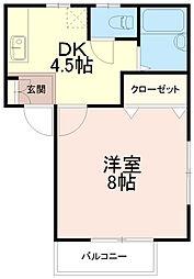 パイニーハウス[1階]の間取り