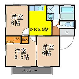 グランパルク[1階]の間取り
