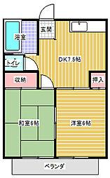 コードイカリ1[105号室]の間取り