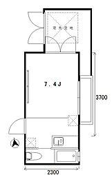 apartmentKURO四谷[1階]の間取り