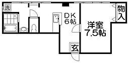 池田グランドコーポ[1階]の間取り