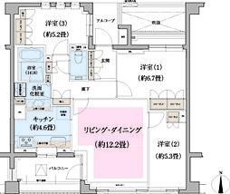 パークハウス玉川岡本[3階]の間取り