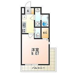 Osaka Metro御堂筋線 江坂駅 徒歩8分の賃貸マンション 6階1Kの間取り