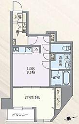 東京メトロ丸ノ内線 本郷三丁目駅 徒歩7分の賃貸マンション 8階1LDKの間取り