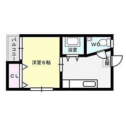コーポ須玖[203号室]の間取り