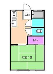 上倉田荘[103号室]の間取り