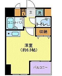 東京都新宿区納戸町の賃貸マンションの間取り