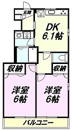 東京都八王子市丹木町1丁目の賃貸アパートの間取り