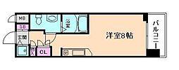 エスリード御堂筋梅田[11階]の間取り
