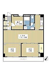 サンライズビルNo1[2階]の間取り