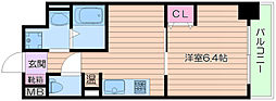 Osaka Metro御堂筋線 江坂駅 徒歩3分の賃貸マンション 5階1DKの間取り
