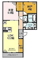 (仮称)D-room天美東[2階]の間取り