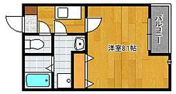 クリスタルI香椎駅東[101号室]の間取り