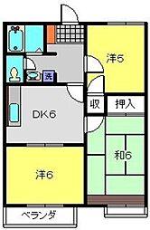神奈川県横浜市港北区日吉本町5丁目の賃貸アパートの間取り