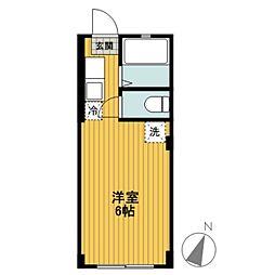 コーポ東川島A棟[105号室]の間取り