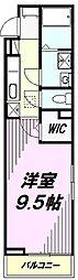 JR横浜線 八王子みなみ野駅 徒歩7分の賃貸アパート 1階1Kの間取り