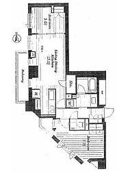 オープンレジデンシア広尾ザ・ハウスサウスコート 7階2LDKの間取り
