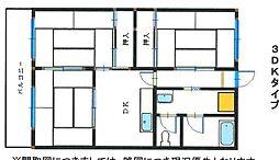 秋山ビル[302号室]の間取り