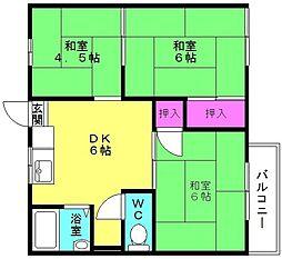 兵庫県高砂市伊保港町2丁目の賃貸アパートの間取り
