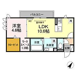 仮)D-room東脇町 3階1LDKの間取り