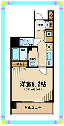 京王線 府中駅 徒歩4分の賃貸マンション 12階1Kの間取り