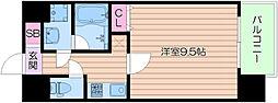 Osaka Metro御堂筋線 なんば駅 徒歩7分の賃貸マンション 7階1Kの間取り