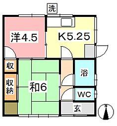 [一戸建] 岡山県倉敷市中島 の賃貸【岡山県/倉敷市】の間取り