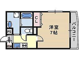 Osaka Metro谷町線 駒川中野駅 徒歩7分の賃貸マンション 5階1Kの間取り