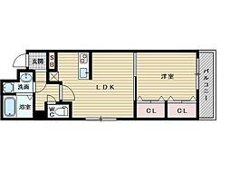 セントロイヤルクラブ新大阪[3階]の間取り