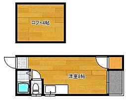 福岡県大野城市中央1丁目の賃貸アパートの間取り
