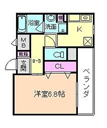 Fusee Chidori[2階]の間取り